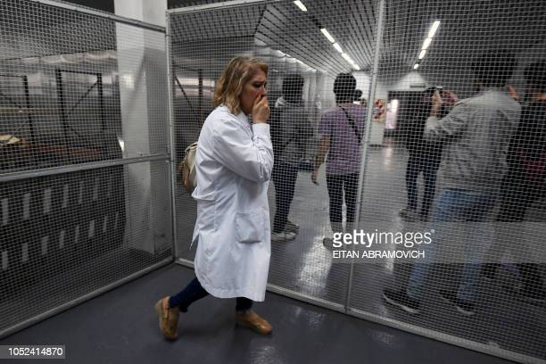 Dismissed workers of the Roux Ocefa Laboratory occupy the company's facilities in Buenos Aires on October 09 2018 A laboratory a textile and a...