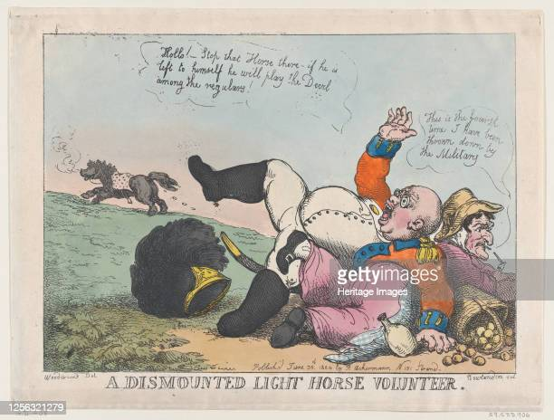 Dismounted Light Horse Volunteer, June 30, 1804. Artist Thomas Rowlandson.