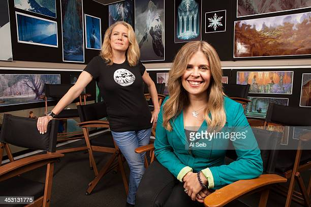Disney animation Directors Jennifer Lee Lauren MacMullan are photographed for Los Angeles Times on November 15 2013 in Burbank California PUBLISHED...