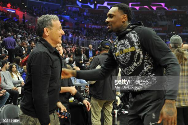 Disney CEO Bob Iger attends a basketball game between the Los Angeles Clippers and the Houston Rockets at Staples Center on January 15 2018 in Los...