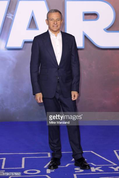 Disney CEO Bob Iger attends Star Wars The Rise of Skywalker European Premiere at Cineworld Leicester Square on December 18 2019 in London England