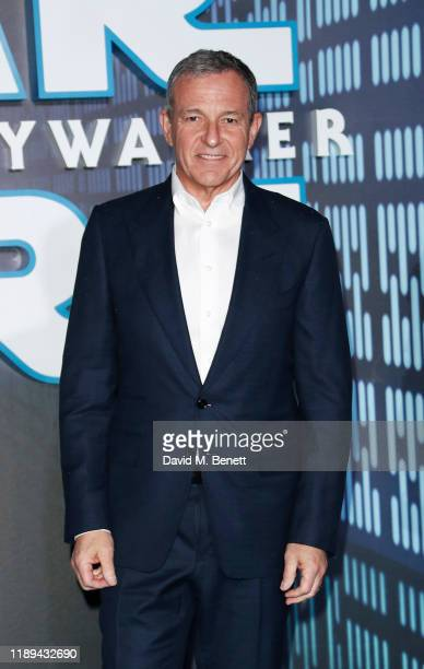 Disney CEO Bob Iger attends the European Premiere of Star Wars The Rise of Skywalker at Cineworld Leicester Square on December 18 2019 in London...