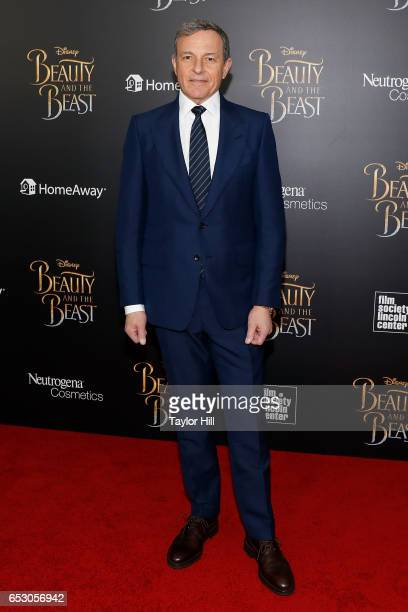 Disney Chairman and CEO Robert Iger attends the 'Beauty and the Beast' New York screening at Alice Tully Hall Lincoln Center on March 13 2017 in New...