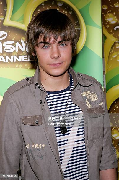 Disney Channel actor Zac Efron poses as Stars of the Disney Channel appear at Splashlight Studios February 9 2006 in New York City