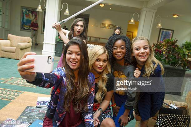 REBELS Disney Channel and Disney XD stars including Rowan Blanchard Olivia Holt Piper Curda Kelli Berglund Skai Jackson and G Hannelius visited the...