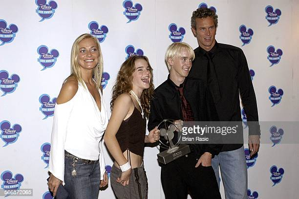 Disney Channel Kids Awards 2003 At The Royal Albert Hall London Britain 20 Sep 2003 Terri Dwyer Emma Watson Tom Felton And