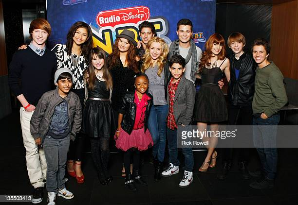 DISNEY Disney Channel stars congratulate Radio Disney's Season Four NBT Winner Shealeigh at the NBT Finale Concert at The Americana at Brand in...