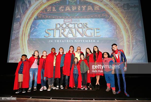 Disney Channel talent attend a special screening of Marvel Studios' DOCTOR STRANGE in 3D hosted by Stan Lee at the El Capitan Theatre on October 23...