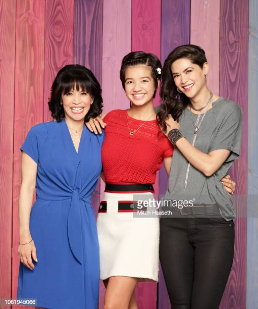 MACK Disney Channel's 'Andi Mack' stars Lauren Tom as Celia Mack Peyton Elizabeth Lee as Andi Mack and Lilan Bowden as Bex Mack