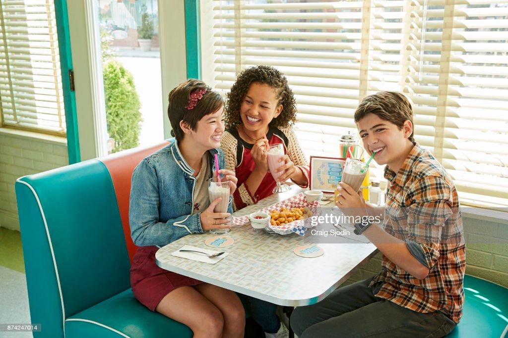 MACK - Disney Channel's Andi Mack stars Peyton Elizabeth Lee as Andi Mack, Sofia Wylie as Buffy Discoll, and Joshua Rush as Cyrus Goodman.