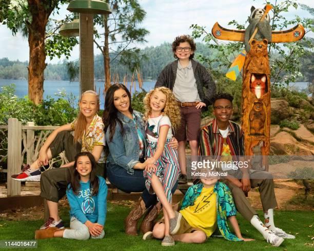 D Disney Channel's BUNK'D stars Scarlett Estevez as Gwen Shelby Simmons as Ava Miranda May as Lou Mallory James Mahoney as Destiny Raphael Alejandro...