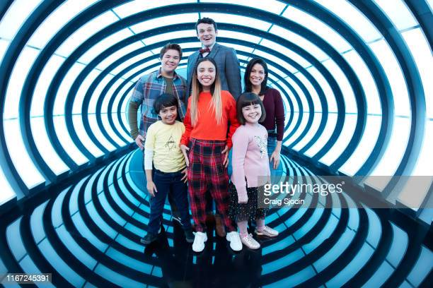 """Disney Channel's """"Gabby Duran and the Unsittables"""" stars Maxwell Acee Donovan as Wesley, Callan Farris as Jeremy, Nathan Lovejoy as Principal Swift,..."""