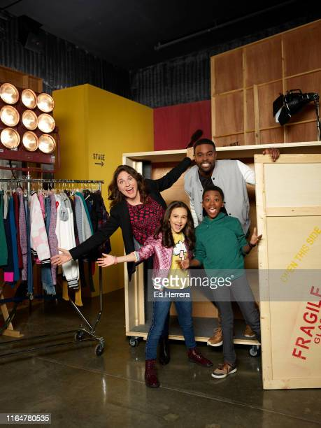 "Disney Channel's ""Just Roll With It"" stars Suzi Barrett as Rachel, Kaylin Hayman as Blair, Ramon Reed as Owen, and Tobie Windham as Byron."