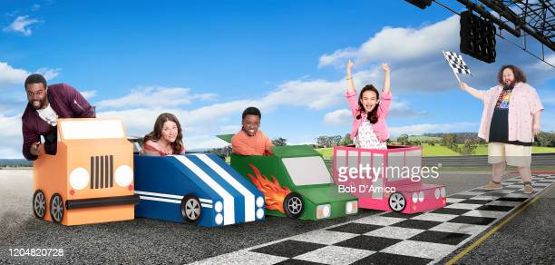 "Disney Channel's ""Just Roll With It"" stars Tobie Windham as Byron, Suzi Barrett as Rachel, Ramon Reed as Owen, Kaylin Hayman as Blair, and J.C...."