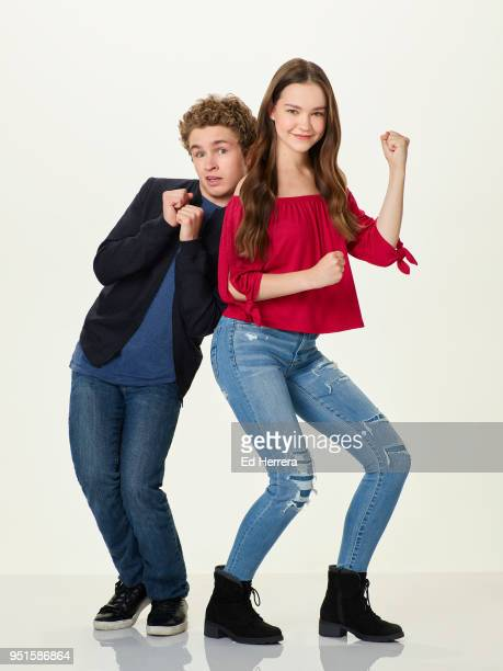KIM POSSIBLE Disney Channel's 'Kim Possible' stars Sean Giambrone as Ron Stoppable and Sadie Stanley as Kim Possible