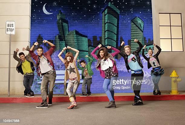 UP Disney Channel's 'Shake It Up' stars Adam Irigoyen as Duece Roshon Fegan as Ty Blue Bella Thorne as CeCe Jones Davis Cleveland as Flynn Jones...