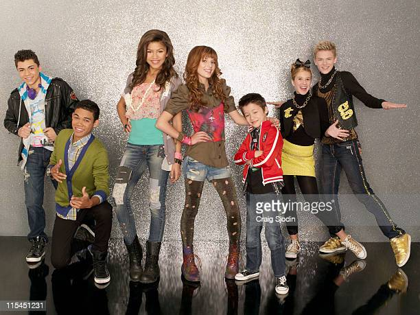 UP Disney Channel's 'Shake It Up' stars Adam Irigoyen as Duece Roshon Fegan as Ty Blue Zendaya as Rocky Blue Bella Thorne as CeCe Jones Davis...