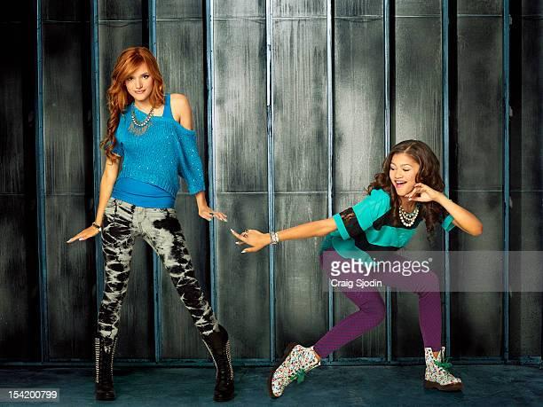 UP Disney Channel's 'Shake It Up' stars Bella Thorne as CeCe Jones and Zendaya as Rocky Blue