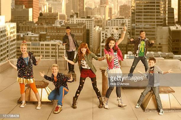 UP Disney Channel's 'Shake It Up' stars Carolina Sunshine as Tinka Kenton Duty as Gunther Roshon Fegan as Ty Blue Bella Thorne as CeCe Jones Zendaya...