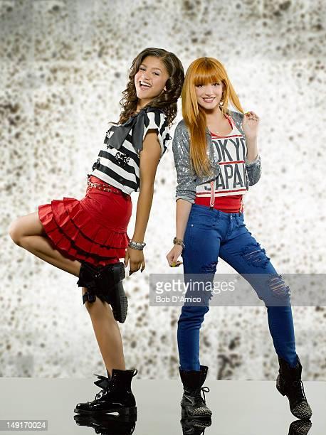 UP Disney Channel's 'Shake It Up' stars Zendaya as Rocky Blue and Bella Thorne as CeCe Jones