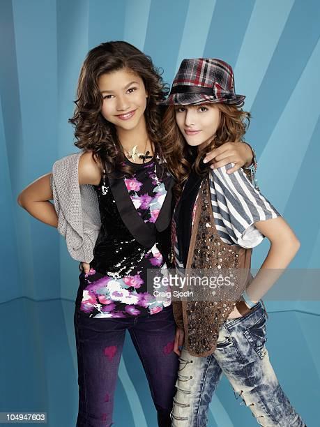 UP Disney Channel's 'Shake It Up' stars Zendaya Coleman as Rocky Blue and Bella Thorne as CeCe Jones