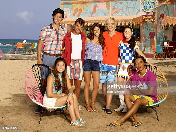 "Disney Channel's ""Teen Beach 2"" stars Ross Butler as Spencer, Piper Curda as Alyssa, Garrett Clayton as Tanner, Maia Mitchell as McKenzie, Ross Lynch..."