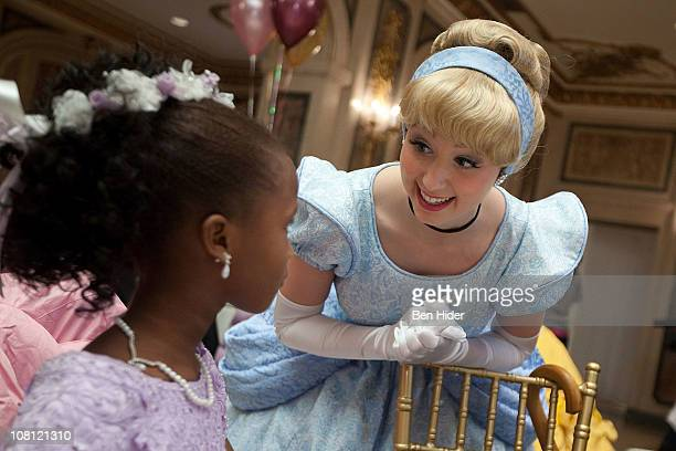 Disney character Cinderella attends a tea party at The Plaza Hotel on January 18 2011 in New York City
