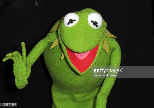 Disney character Kermit The Frog attends the Premiere Of Walt Disney Pictures' 'The Muppets' at the El Capitan Theatre on November 12 2011 in...
