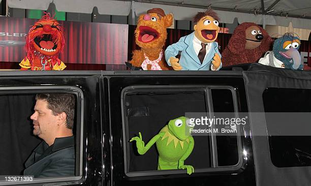Disney characters attend the Premiere Of Walt Disney Pictures' 'The Muppets' at the El Capitan Theatre on November 12 2011 in Hollywood California