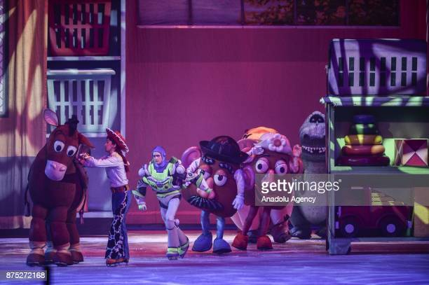 Disney characters perform during the Disney on Ice show at Tauron Arena Krakow Poland on the November 17 2017 Disney on Ice is a show through the...