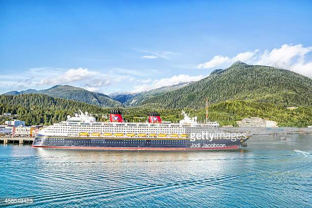 Disney cruise ship docked in Ketchikan, Alaska