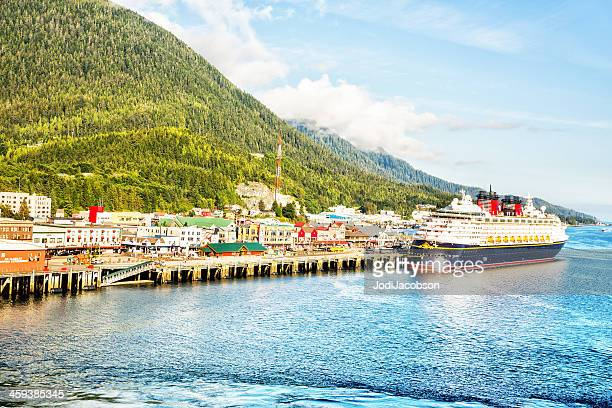 Disney cruise ship docked in Ketchikan, Alaska