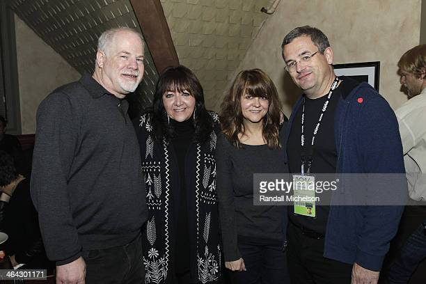 Disney executive Scott Holtzman BMI executive Doreen RingerRoss music supervisor Tracey McKnight journalist Phil Gallo attend the BMI Zoom dinner at...