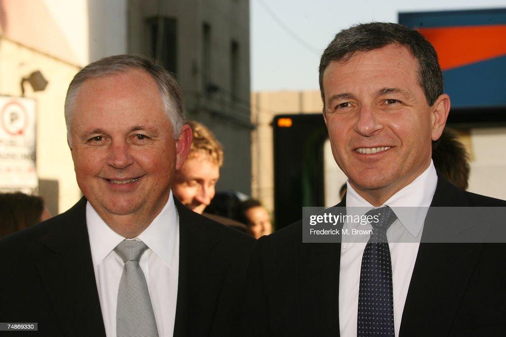 Disney executives Dick Cook and Bob Igor attend the