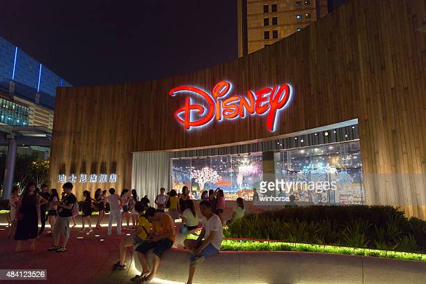 disney flagship store in shanghai, china - flagship store stock pictures, royalty-free photos & images