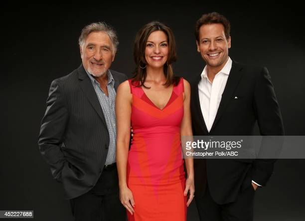 ABC's 'Forever' actors Judd Hirsch Alana De La Garza and and Ioan Gruffudd pose for a portrait during ABC's 2014 TCA summer press tour at The Beverly...