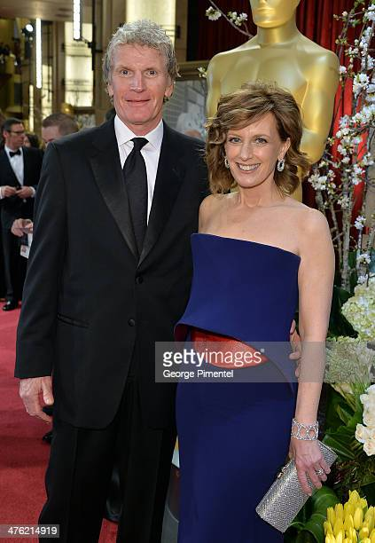 Disney Media CoChair and DisneyABC Television Group President Anne Sweeney and husband Phil Miller attend the Oscars held at Hollywood Highland...