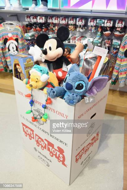 Disney merchandise on display as Hilary Duff kicks off Disney store and shopDisneys Holiday campaign at Disney store on November 26 2018 in Los...