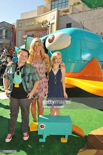 DIMENSION PREMIERE Disney rolled out the red carpet for the Hollywood premiere of the upcoming Disney Channel Original Movie 'Phineas and Ferb Across...