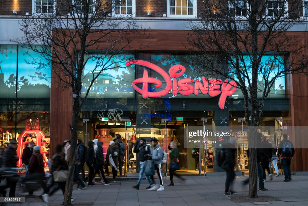 Disney store seen in London famous Oxford street. Central... : News Photo