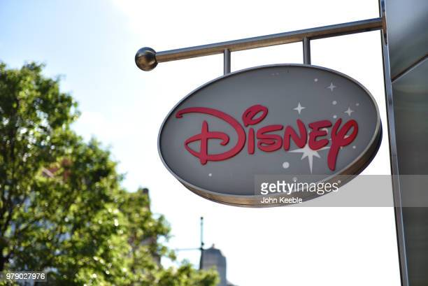 Disney Store sign on Oxford Street on June 11 2018 in London England