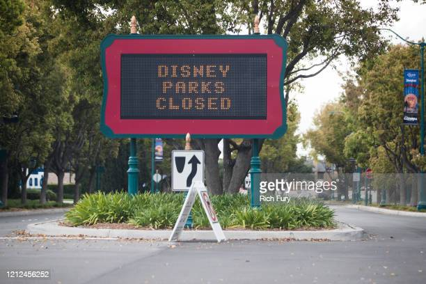 Disney theme parks are closed as the coronavirus continues to spread across the United States on March 14, 2020 in Anaheim, California. The World...