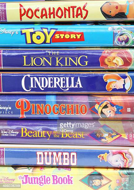 disney vintage vhs tapes - disney stock pictures, royalty-free photos & images