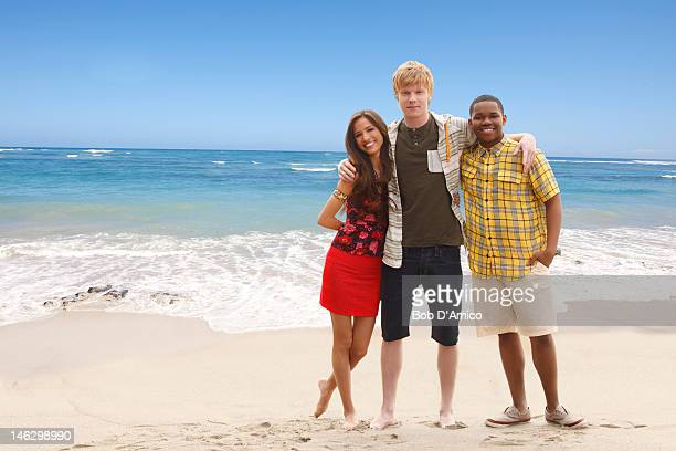 KINGS Disney XD's 'Pair of Kings' stars Kelsey Chow as Mikayla Adam Hicks as Boz and Doc Shaw as Boomer