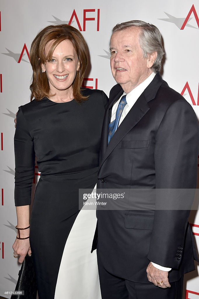 Disney-ABC Television Group President Anne Sweeney (L) and business executive Robert A. Daly attend the 15th Annual AFI Awards at Four Seasons Hotel Los Angeles at Beverly Hills on January 9, 2015 in Beverly Hills, California.