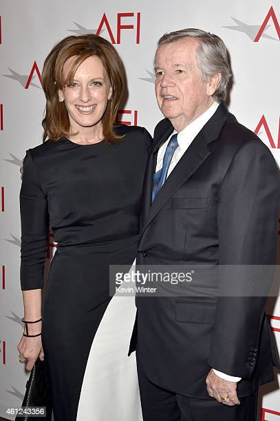 DisneyABC Television Group President Anne Sweeney and business executive Robert A Daly attend the 15th Annual AFI Awards at Four Seasons Hotel Los...