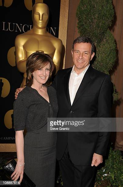 DisneyABC Television Group President Anne Sweeney and CEO of The Walt Disney Company Robert Iger arrive at the 83rd Academy Awards Nominations...