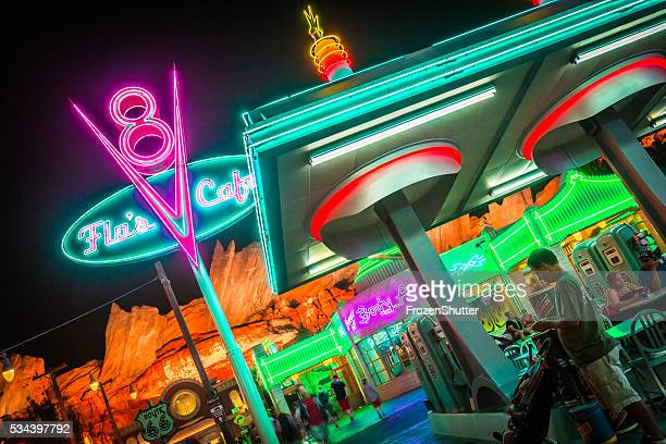 Disneyland 60th aniversary at Cars Land night time
