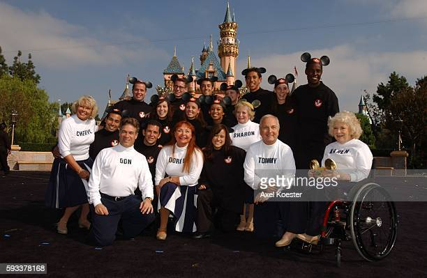 Disneyland celebrates the 50th anniversary of The Mickey Mouse Club by honoring 10 of the original Mouseketeers during a media event in front of...