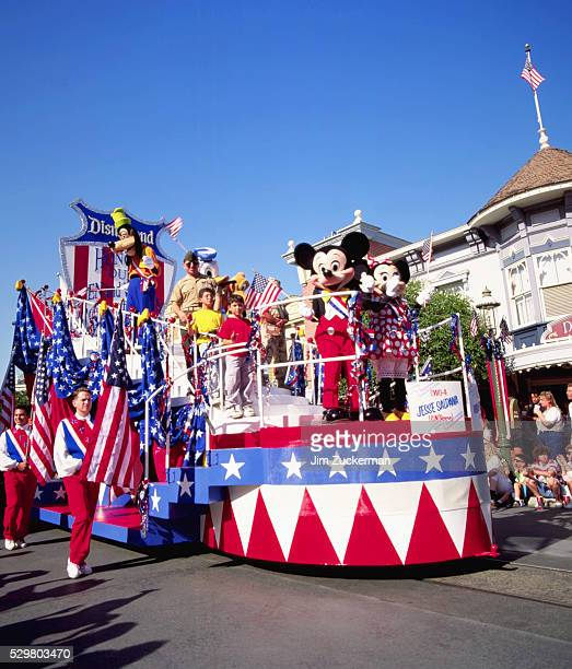 disneyland parade for american armed forces - disney stock pictures, royalty-free photos & images